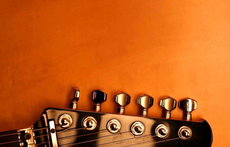 Photo wallpaper guitar, strings, pick