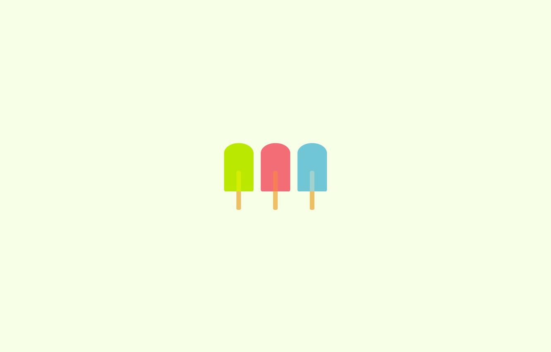 Photo wallpaper paint, ice cream, Popsicle