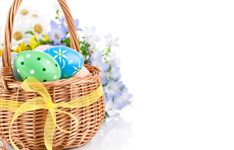Photo wallpaper flowers, eggs, spring, Easter, Easter