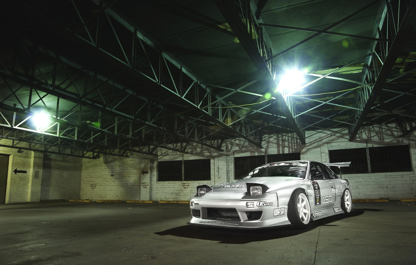 Photo wallpaper Machine, Nissan, grey, Nissan, Tuning, JDM, 180sx
