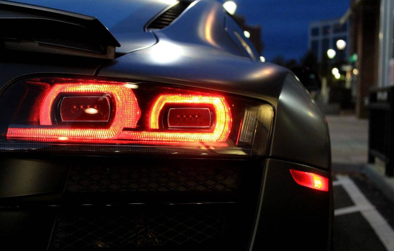 Photo wallpaper machine, auto, lights, auto, Audi R8 V10