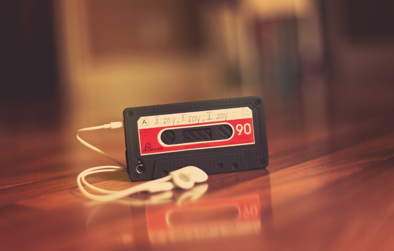 Photo wallpaper music, background, Wallpaper, mood, cassette, headphones, player, table. red, melody. song