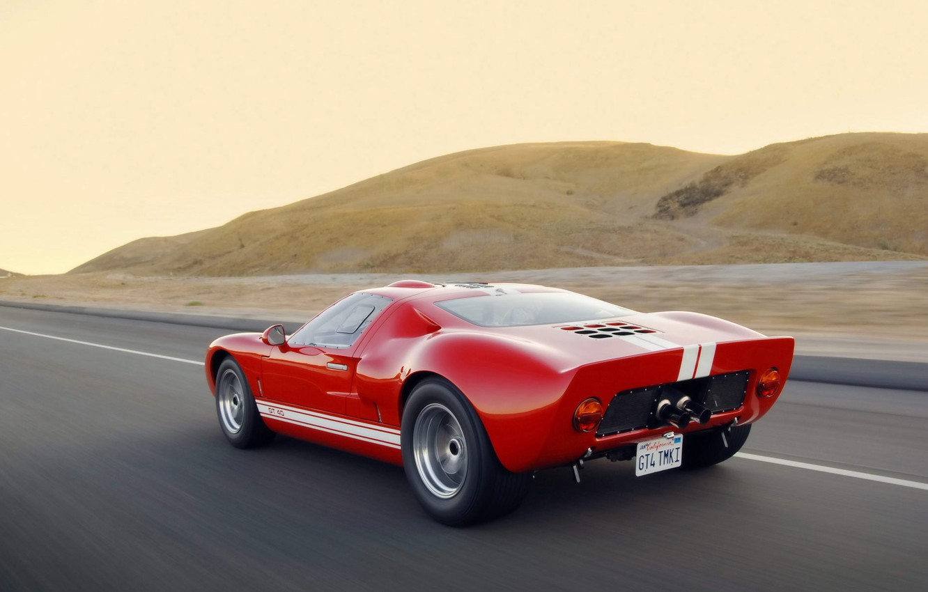Photo wallpaper road, Ford, Ford, GT-40