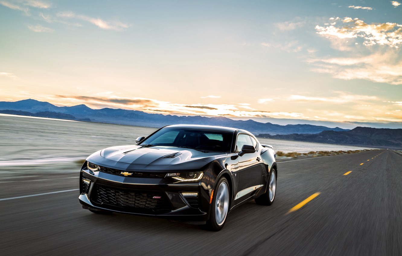 Photo wallpaper black, Chevrolet, Camaro, Chevrolet, Black, Camaro