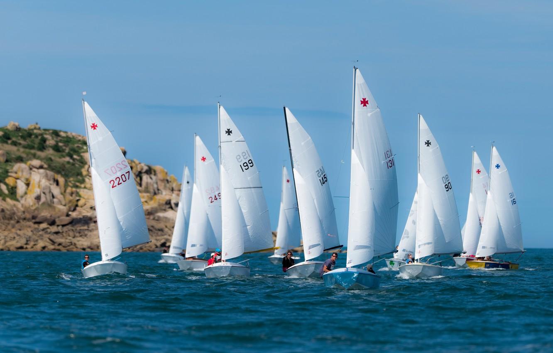 Photo wallpaper sea, race, boat, yacht, sail, regatta, sailing