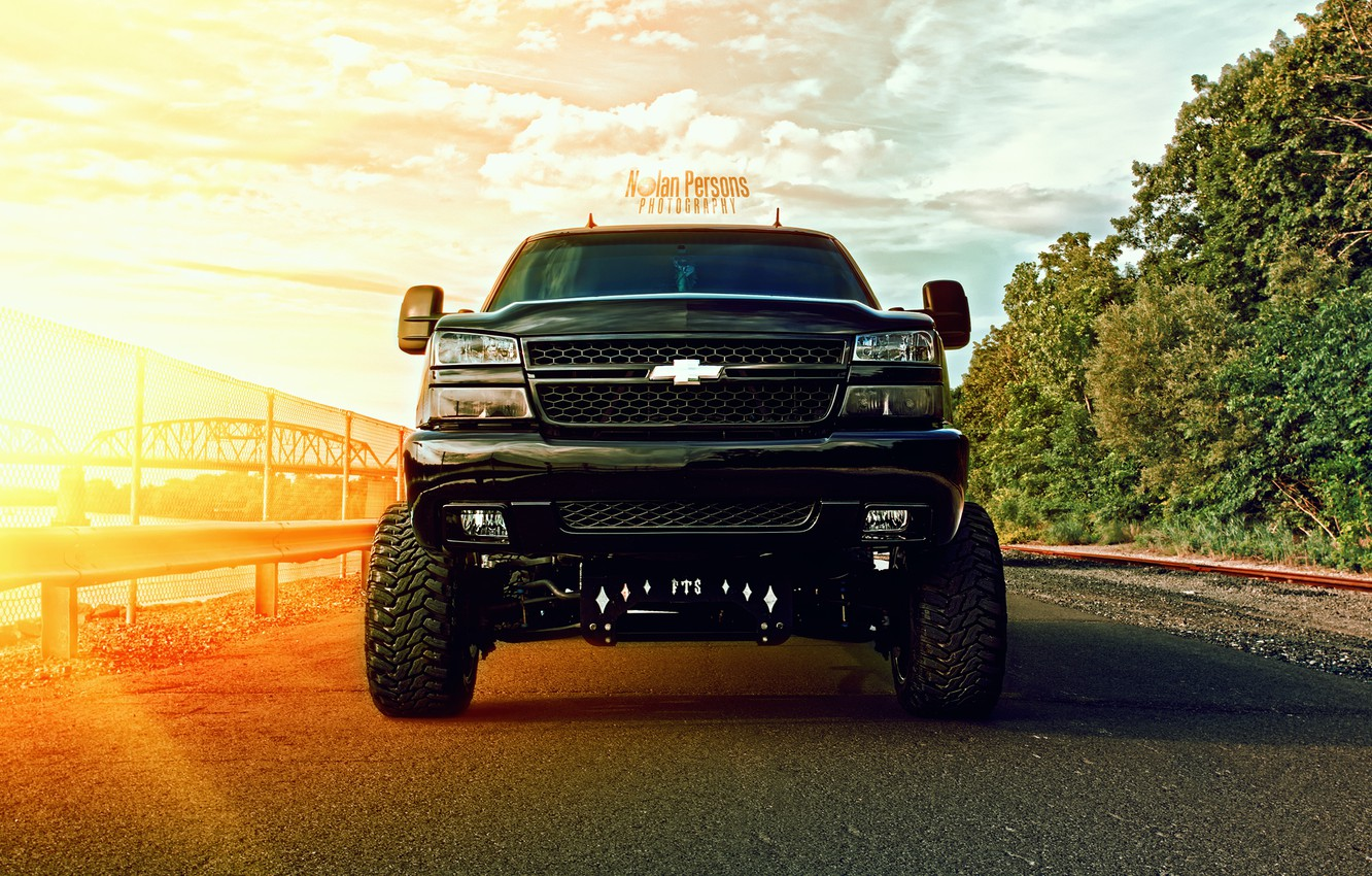 Photo wallpaper black, HDR, Chevrolet