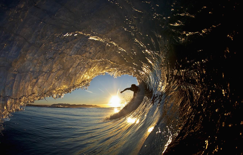 Photo wallpaper beauty, Wave, surfers