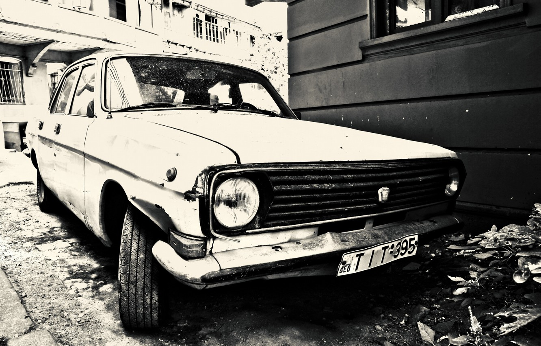 Photo wallpaper retro, lights, the bottom, Volga, gas 24