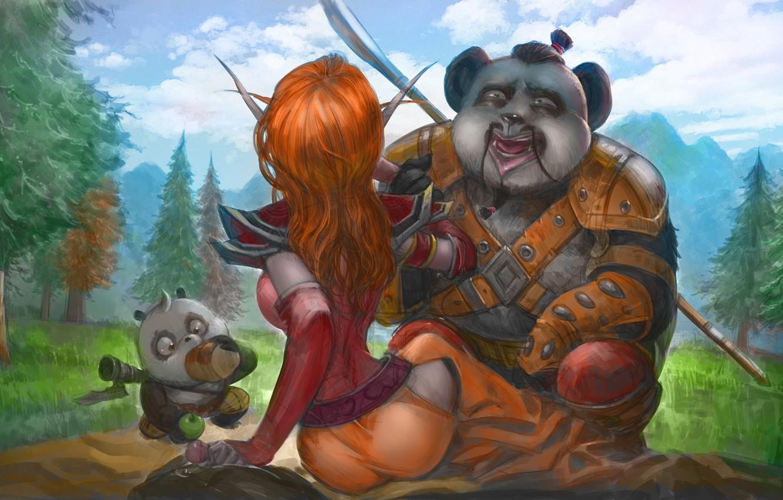 Photo wallpaper fantasy, the game, art, Panda, World of Warcraft, Wow