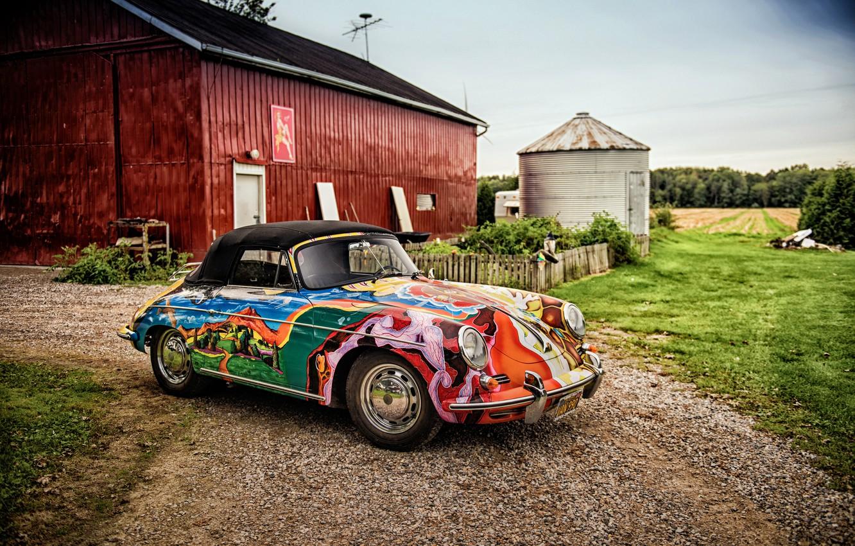 Photo wallpaper Porsche, convertible, Porsche, Cabriolet, 356