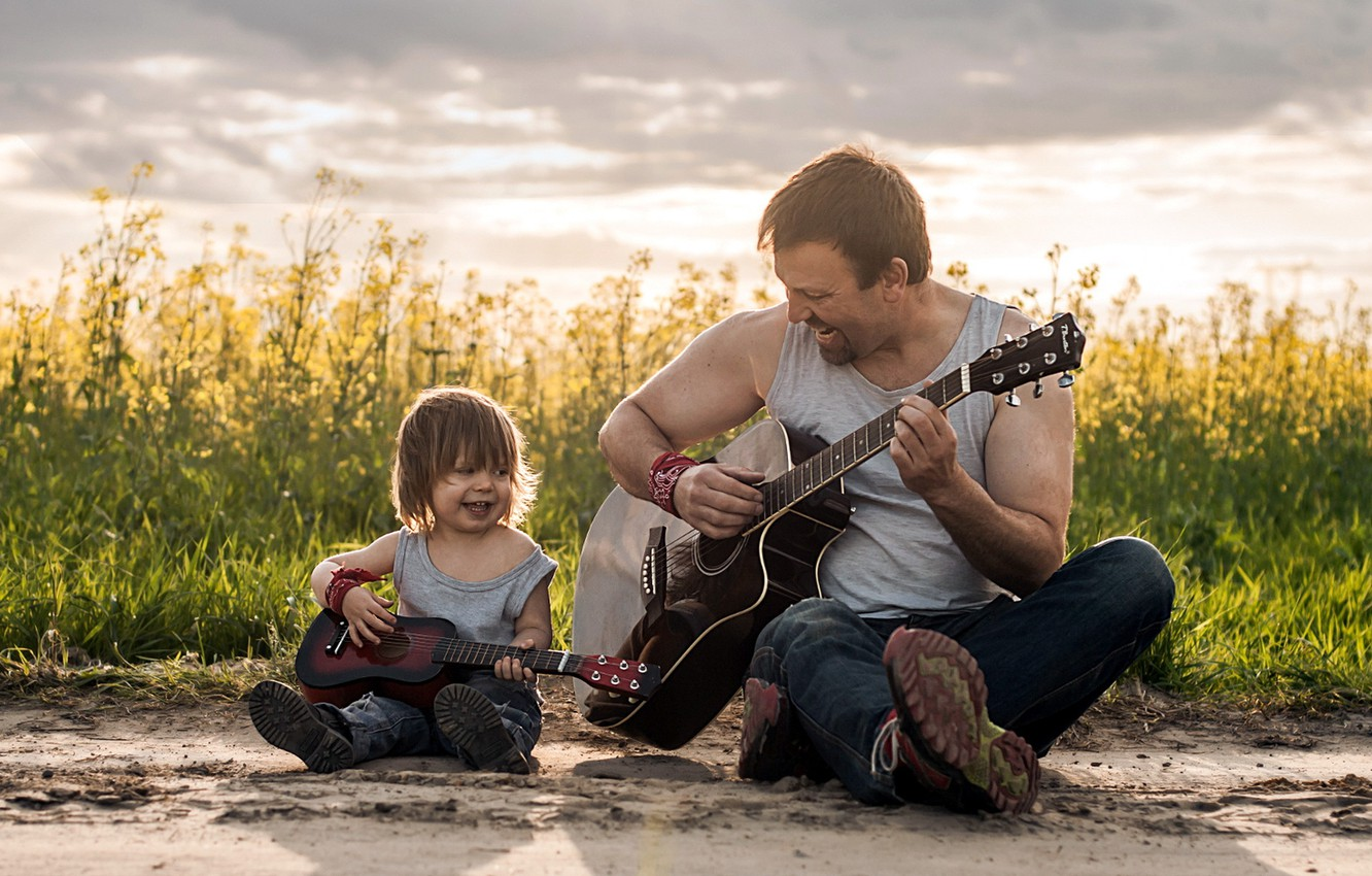 Wallpaper Music Mood Guitar Father Son Images For