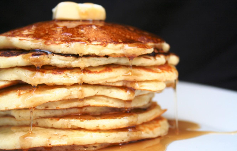 Photo wallpaper food, honey, pancakes