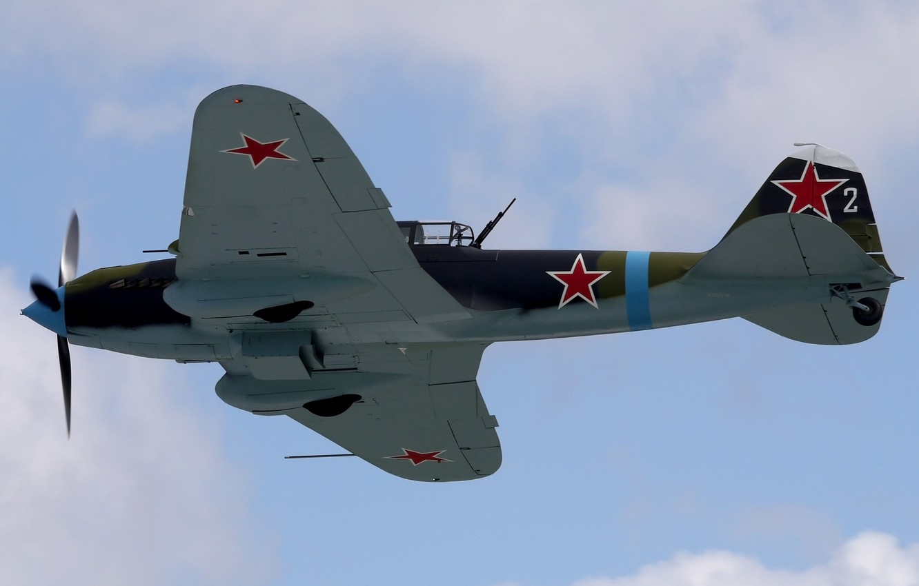 Photo wallpaper flight, attack, Soviet, IL-2 Sturmovik