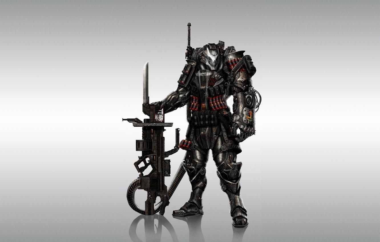Photo wallpaper weapons, background, warrior, armor, Warhammer, 40k, fan art, Winged Skull