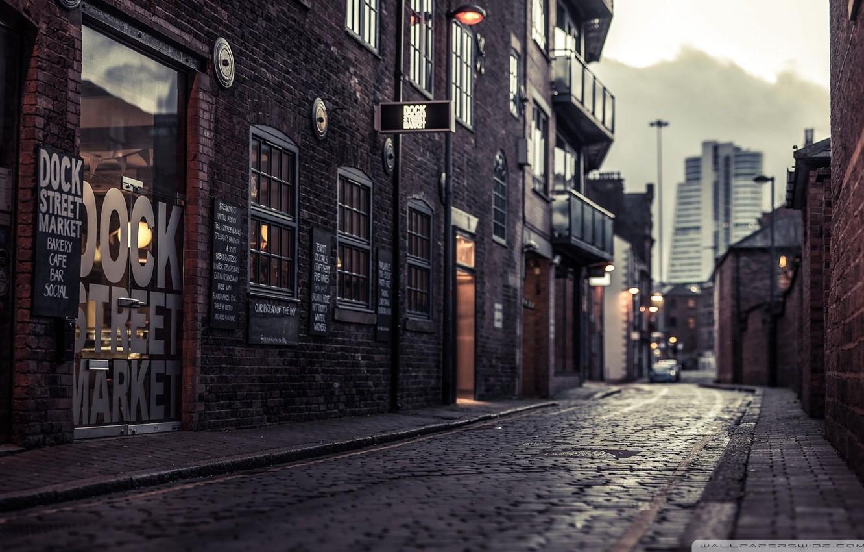 Photo wallpaper city, street, Vintage, Retro