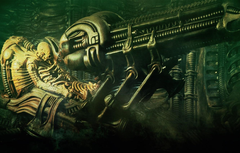 Photo wallpaper stranger, pilot, alien, the space jockey