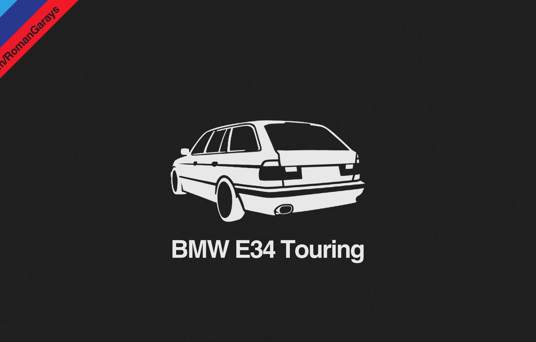 Wallpaper Bmw Dark Helvetica Car Design Black Wallpaper E34
