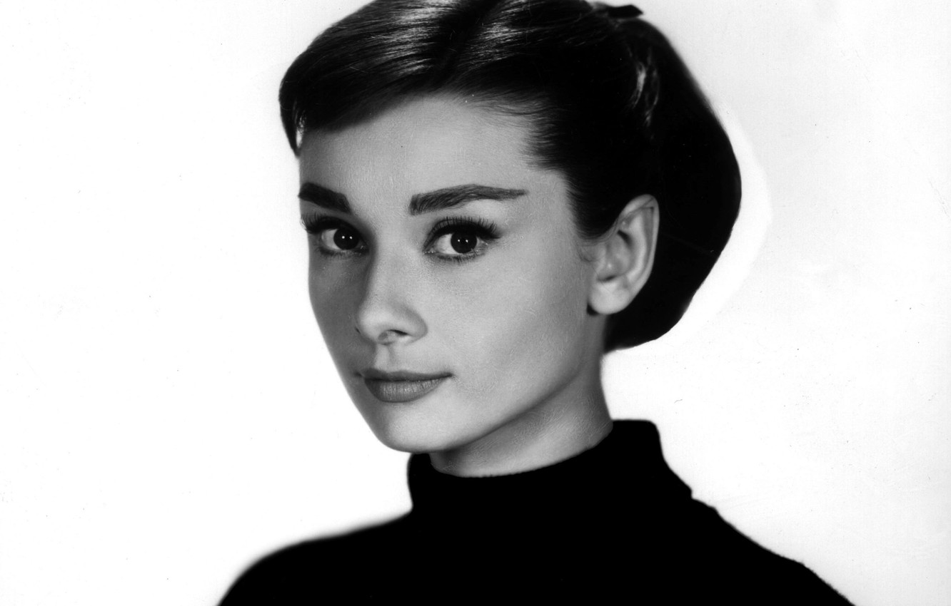Photo wallpaper girl, photo, actress, black and white, celebrity, audrey hepburn, Audrey Hepburn