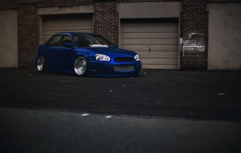 Photo wallpaper tuning, Subaru, blue, blue, wrx, impreza, Subaru, sti, Impreza, stance