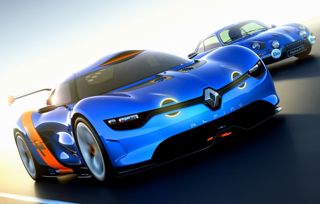 Photo wallpaper Concept, the sky, the concept, Renault, Reno, racing track, the front, Alpine, Alpine, A110-50
