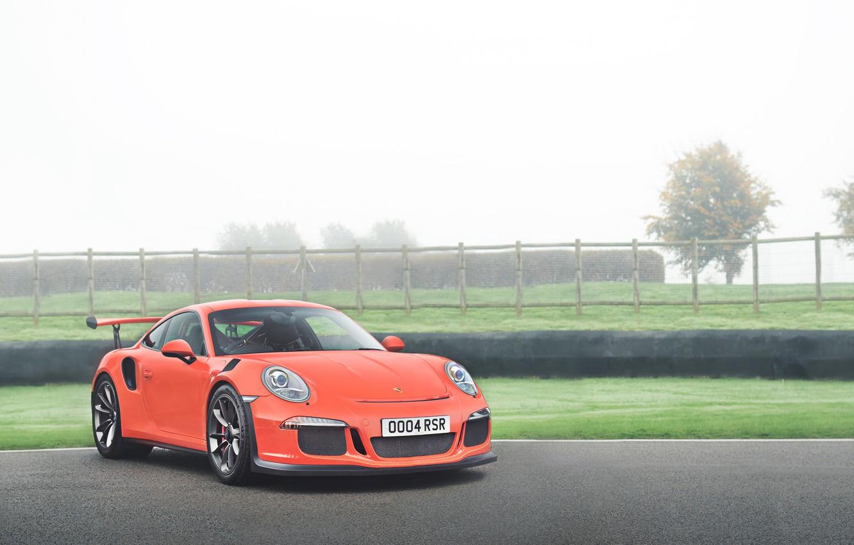 Photo wallpaper 911, Porsche, Red, GT3, 2015