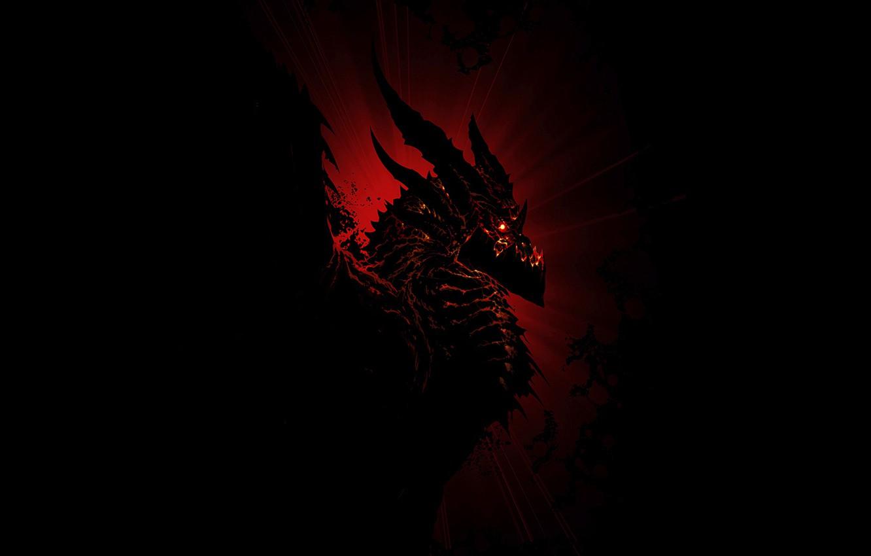 Photo wallpaper fantasy, warcraft, world of warcraft, Deathwing, MMORPG, Deathwing, Black dragon, aspect