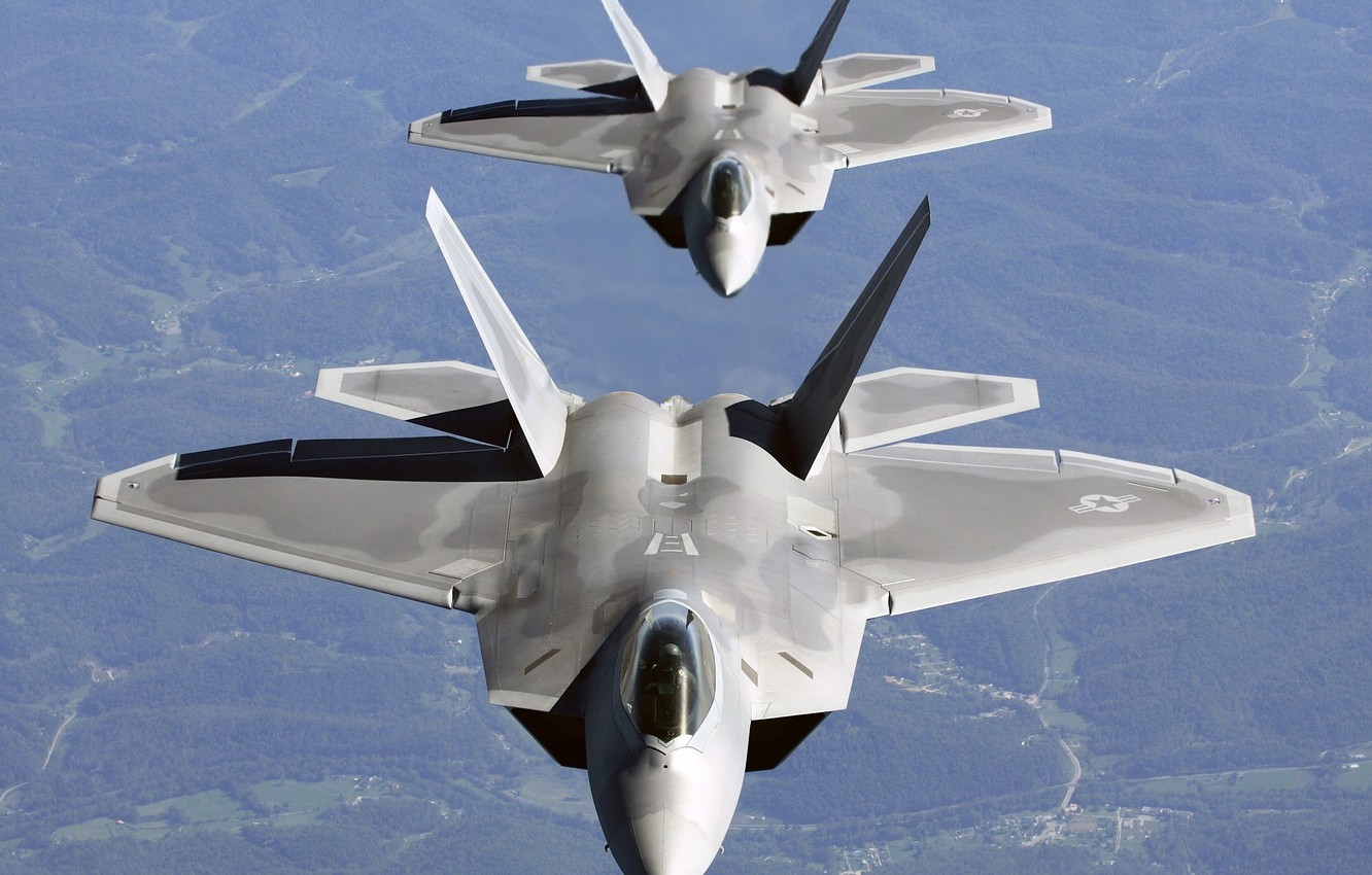 Wallpaper Aircraft Pair F 22 Raptor Images For Desktop Section