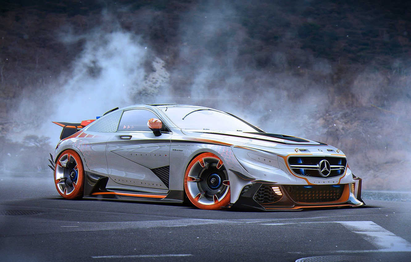 Photo wallpaper Mercedes-Benz, Car, AMG, Tuning, Future, Silver, S63, by Khyzyl Saleem