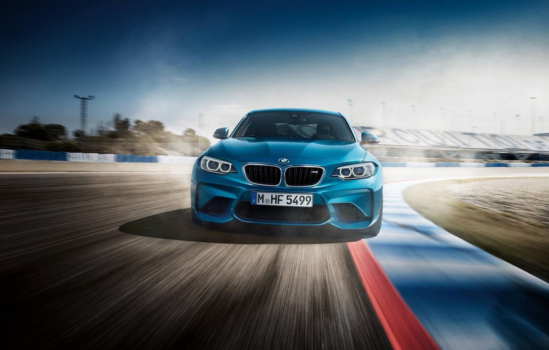 Photo wallpaper Blue, BMW, BMW, Track, FAS