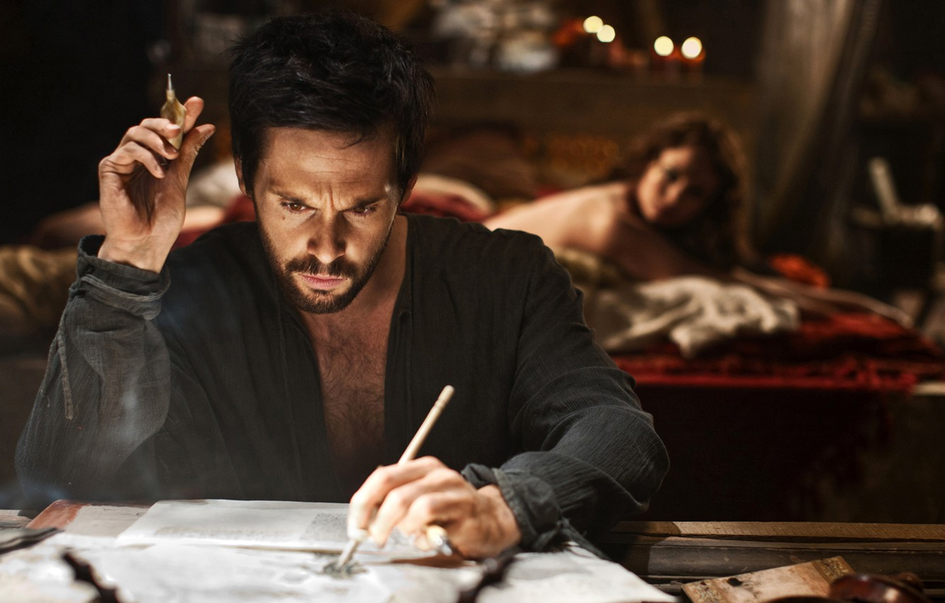 Photo wallpaper the series, draws, serial, da Vinci's demons, da vinci's demons, tom riley, Tom Riley, thinks