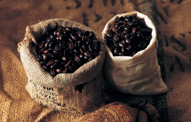 Photo wallpaper grain, Coffee, 1920x1200, beans, coffee, bags, bags