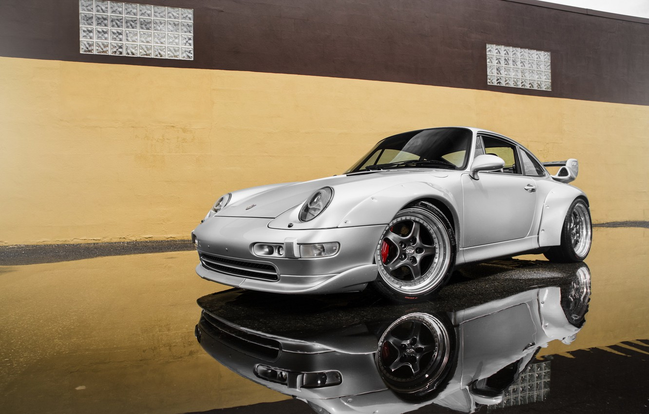 Photo wallpaper 911, Porsche, GT2, silvery, 993