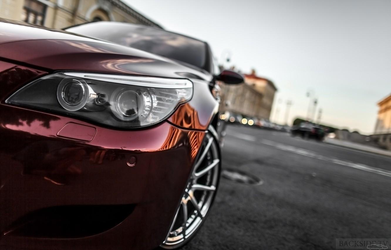 Photo wallpaper machine, auto, BMW, Shadow, optics, auto, review, E60, Smotra