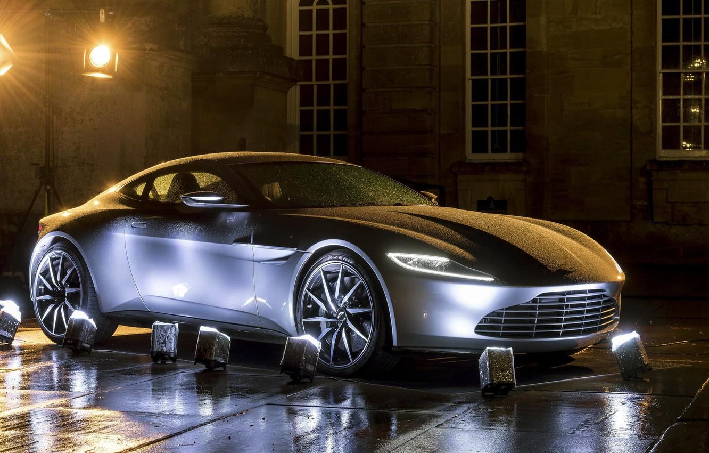 Photo wallpaper Aston Martin, backlight, car, The concept car, Coupe, Concept car, DB10