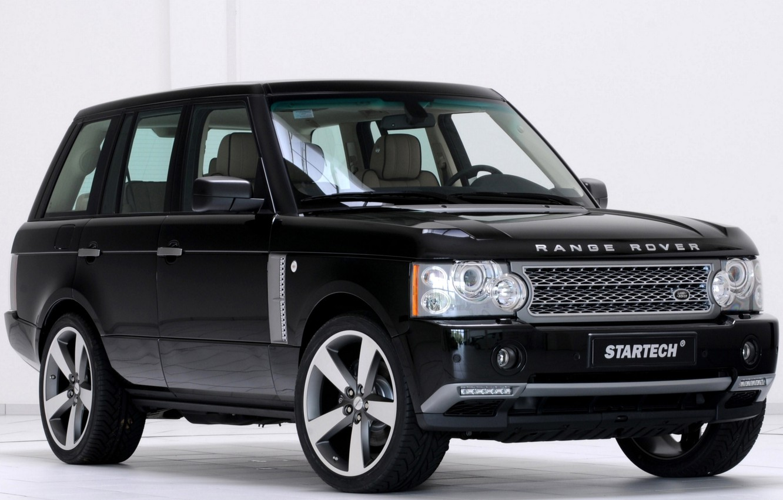 Photo wallpaper black, Rover, Range