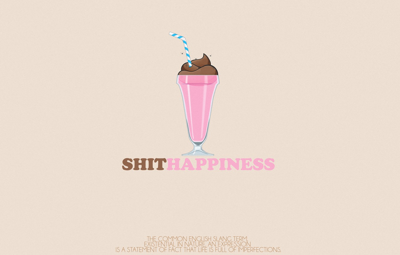 Photo wallpaper Icecream, Shit Happiness, nomane world