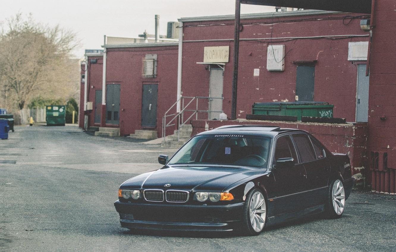Photo wallpaper BMW, Boomer, BMW, Stance, E38, Bimmer, 750il