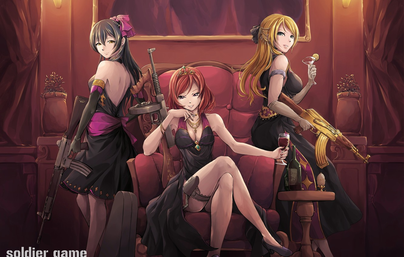 Wallpaper Weapons Anime Mafia Love Live Images For Desktop Section Prochee Download