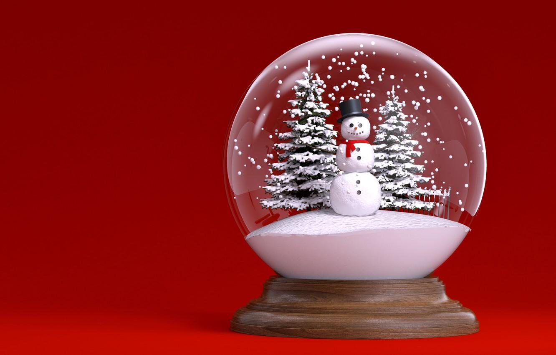 Year, Christmas, snowman, winter, snow ...