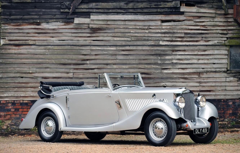 Photo wallpaper auto, retro, convertible, railton straight 8