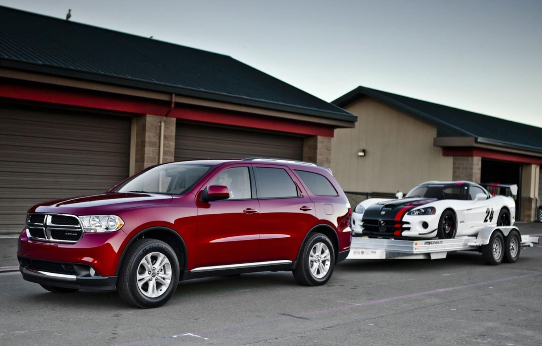 Photo wallpaper background, Dodge, Dodge, supercar, Viper, the front, and, garages, crossover, SRT10, Viper, Durango, ACR, Durango