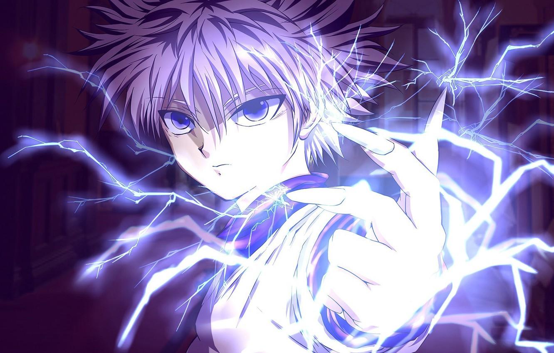 Wallpaper Game Lightning Blue Anime Power Short Hair Boy Assassin Asian Hand Flash Action Manga Hunter Japanese Oriental Images For Desktop Section Syonen Download
