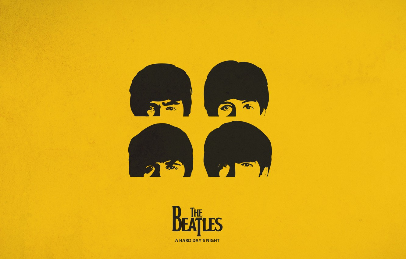 Photo wallpaper yellow, the Beatles, cover