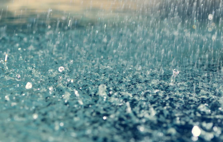 Photo wallpaper drops, rain, rain, drops