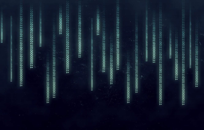 Photo wallpaper abstract, Matrix, binary, numbers
