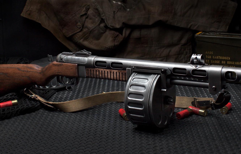 Photo wallpaper weapons, background, machine