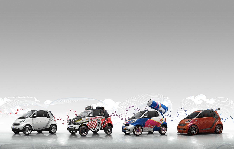 Photo wallpaper cars, cars, Smart