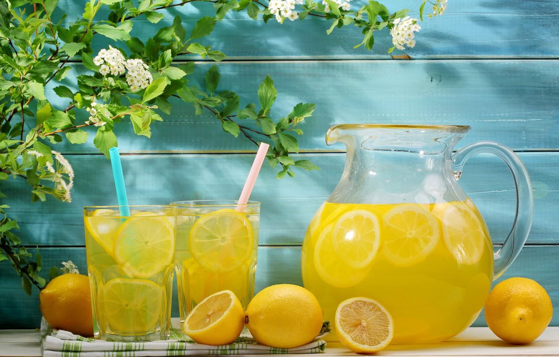 Photo wallpaper summer, flowers, drink, fresh, lemons, lemonade, lemons, lemonade