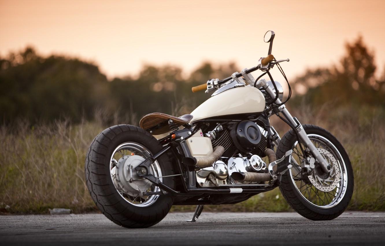 Photo wallpaper road, design, motorcycle, bike, Yamaha 650