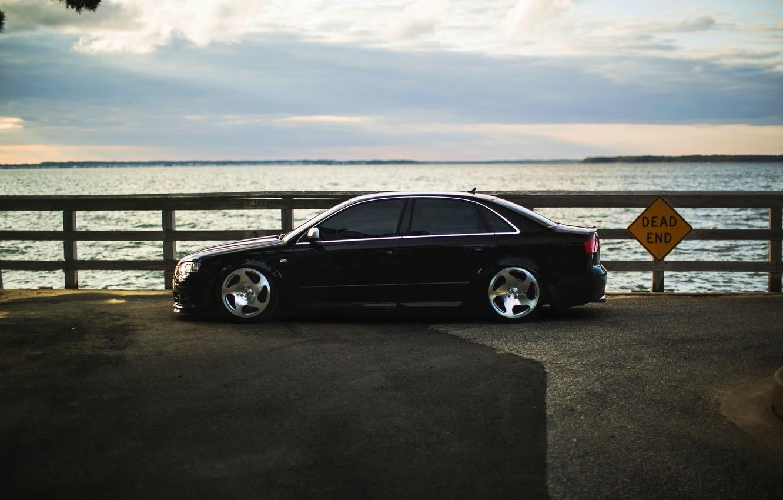 Photo wallpaper Audi, Audi, tuning, black, profile, black